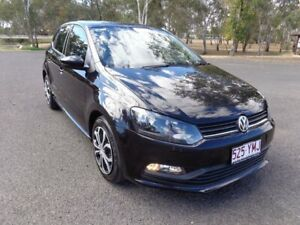 2015 Volkswagen Polo 6R MY16 66 TSI Trendline Black 5 Speed Manual Hatchback Roma Roma Area Preview