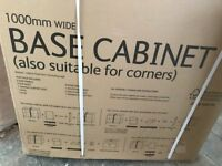 1000mm B & Q white kitchen base unit, still in box as it was bought in haste and wasn't needed.