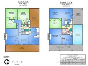 3 BEDROOMS HOUSE WITH  2 LARGE LIVING ROOMS  $ 2 DECKS FOR RENT