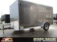 2016 HAULIN HLAFTX 6X12+ V NOSE / RAMP DOOR / CHARCOAL GREY