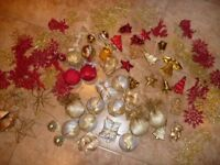 100+ Red/Gold Christmas Tree Decorations