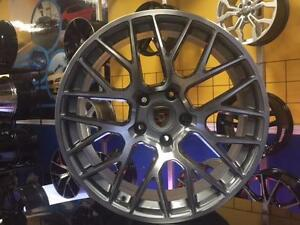 MAGS PORSCHE CAYENNE 20'' 5X130 GUNMETAL FACE MACHINÉ ***EN STOCK***/ ENSEMBLE AVEC PNEUS DISPONIBLE