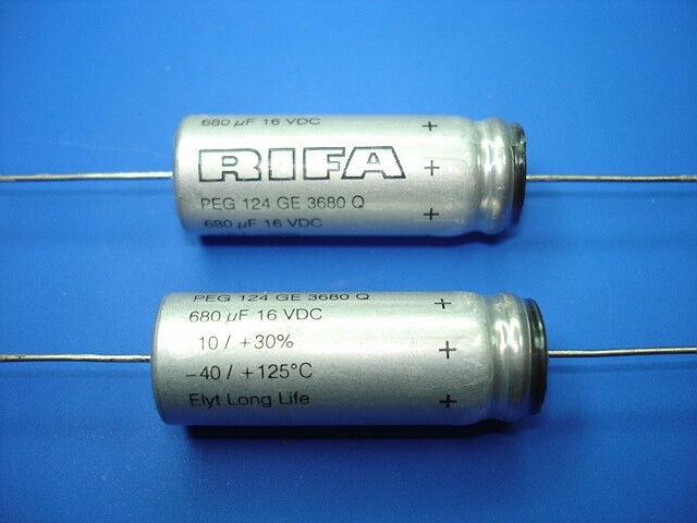 (5) 680uf 16v 125°C Evox RIFA Elyt LL Top Of The Line Axial Audio Capacitors NEW