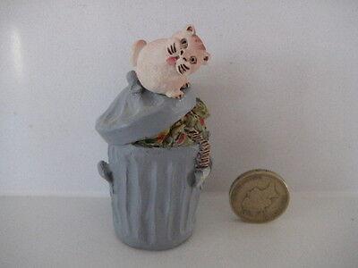 RARE ORIGINAL COLOUR BOX CAT PETER FAGAN HOME SWEET HOME HS514 TRASH CAN CAT