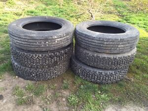 6 All Steel Radial Truck Tires used on Ford F650