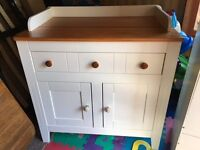 Mamas and Papas Wardrobe and Changing Station. Cot also available if needed.