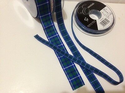 Berisfords DOUGLAS Tartan ribbon Scottish Approved Designs - 7 10 16 25 40mm Douglas Tartan Ribbon