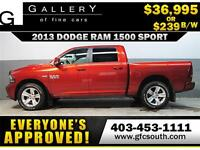 2013 DODGE RAM SPORT CREW **EVERYONE APPROVED** $0 DOWN $239/BW!