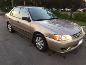 2002 toyota corolla CE with CERTIFY&EMISSION.157KM