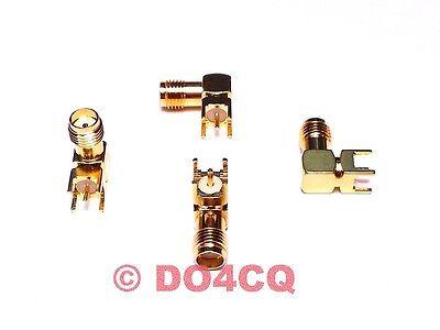 90° Winkel SMA Buchse PTFE Print-Montage (PCB Leiterplattenmontage) (H09F)
