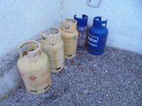 GAS BOTTLES FLO GAS , WWG , CALOR EMPTY COLLECTION SA146HU TUMBLE