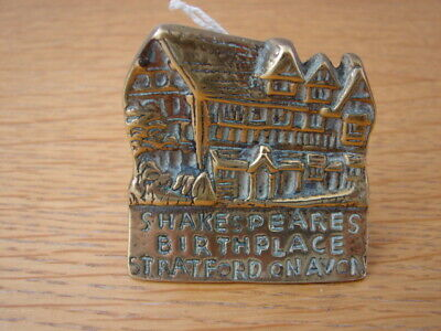 Solid Brass William Shakespeare Birthplace chimney ornament