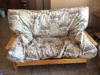 2 matching solid pine Futons