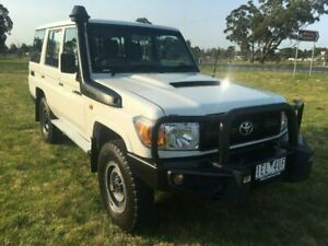 2015 Toyota Landcruiser VDJ76R MY12 Update Workmate (4x4) French Vanilla 5 Speed Manual Wagon Sale Wellington Area Preview