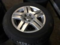 SET OF 4 VW GOLF WHEELS & TYRES 15""
