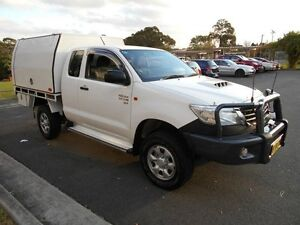 2012 Toyota Hilux KUN26R MY12 SR (4x4) White 5 Speed Manual Yagoona Bankstown Area Preview