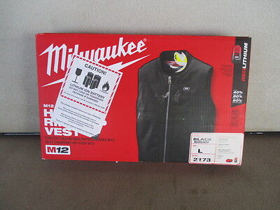 Milwaukee 2173-L LARGE BLACK M12 Cordless Lithium-Ion Heated VEST Kit Battery