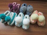 0-8 months knitted baby slippers