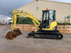 Excavator Yanmar VIO55-5. 5.5 tonne machine with 3 buckets Pickering Brook Kalamunda Area Preview