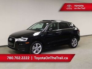 2016 Audi Q3 PROGRESSIV; LOW KM, AWD, LEATHER, PANORAMIC SUNROO