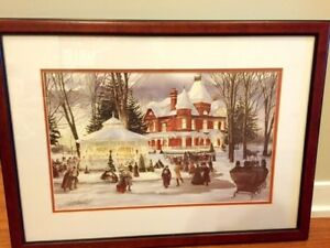 TWO WALTER CAMPBELL FRAMED WINTER SCENES
