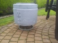 Washing machine drum recycled into patio heater