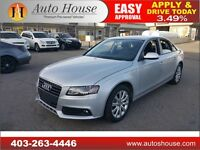 2012 AUDI A4 2.0 TURBO AWD QUATTRO LOW KMS 90daynopayments