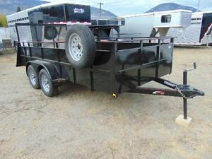 2016 Mirage 6X14 Utility Trailer w. Rear Ramp and Spare Tire