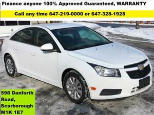 2011 Chevrolet Cruze LT Turbo FINANCE 100% GUARANTEED APPROVED