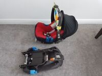 Britax Romer car seat with belted base