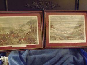 Millitary Reenactment! 2 War of 1812 Prints! Batoche/Queenston!