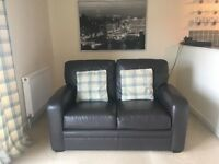 Real Leather Sofa - £100