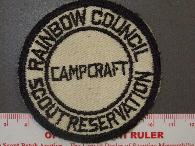 Boy Scout Rainbow Council Scout Reservation Campcraft patch IL 0192X