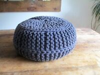 Chunky Knit Pouffe Foot Stool Seat