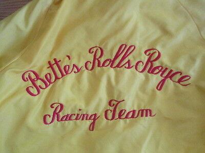 Rare Vintage BETTE'S ROLLS ROYCE Racing Team (MED) Jacket BOB CHARLES Crew Chief