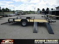 2016 Sure Trac  7x 14 ft side load atv ramps / rear ramp