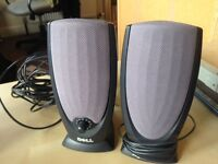 Set of two computer/ laptop speakers. Compaq/ Dell 5v with cables.