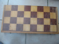 wooden folding chess board 50x 50 cm