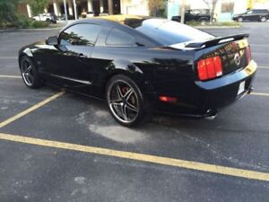 "2005 Mustang GT - 5 Speed Manual - 20"" RIMS - BLACK on RED"
