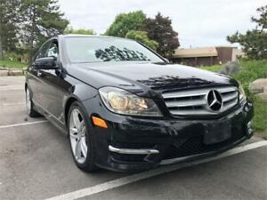 2012 MERCEDES BENZ C250 4MATIC, NAVIGATION, LOW KM, CERTIFIED