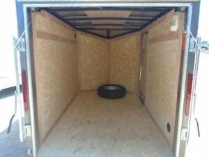 REAR RAMP DOOR ENCLOSED HAULIN CARGO 5X8 V-NOSE - SALE PRICED London Ontario image 3