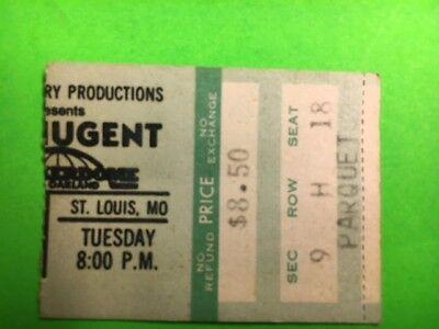 Ted Nugent 1979 TNT World Tour Checkerdome St.Louis MO Concert Ticket Stub Rare