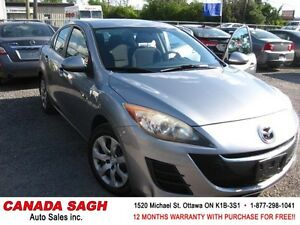 2010 Mazda Mazda3 5SPEEDS/AC/PWR 141km, 12M.WRTY+SAFETY $5490