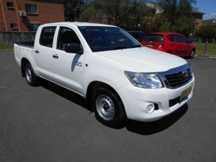 2012 Toyota Hilux GGN15R MY12 SR White 5 Speed Automatic Dual Cab Pick-up Bankstown Bankstown Area Preview