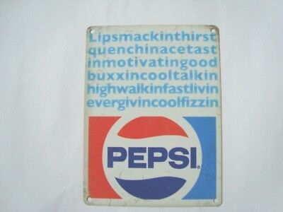 Pepsi Cola - Retro Style Metal Tin Sign 20x15cms Lipsmacking...Advertising Sign