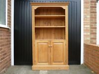 Solid pine display unit shelfs