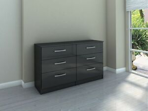 NEW BIRLEA LYNX BLACK HIGH GLOSS BEDROOM FURNITURE, STUNNING RANGE