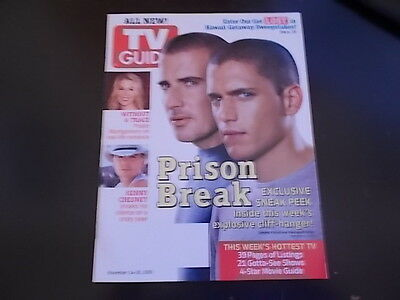 Wentworth Miller  Dominic Purcell   Tv Guide Magazine 2005