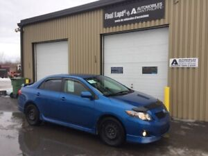 2009 Toyota Corolla S manuelle ,clean, 170885 km,8 roues