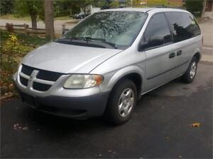2002 DODGE CARAVAN SILVER..ONLY 189000KMS